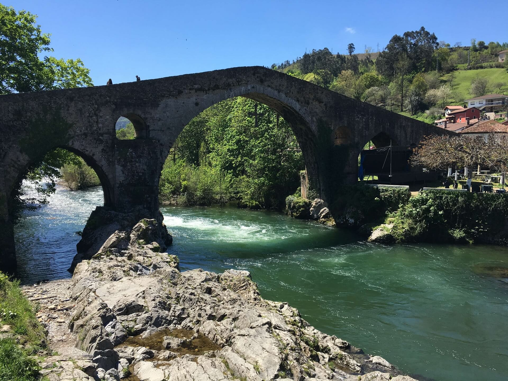 Cangas Roman bridge in Asturias, best places to see in Asturias