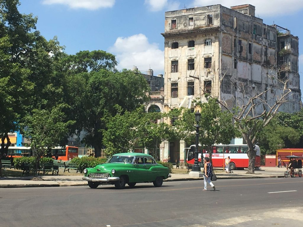 . Facade of the Perla Hotel. Things to see in Havana, Cuba.