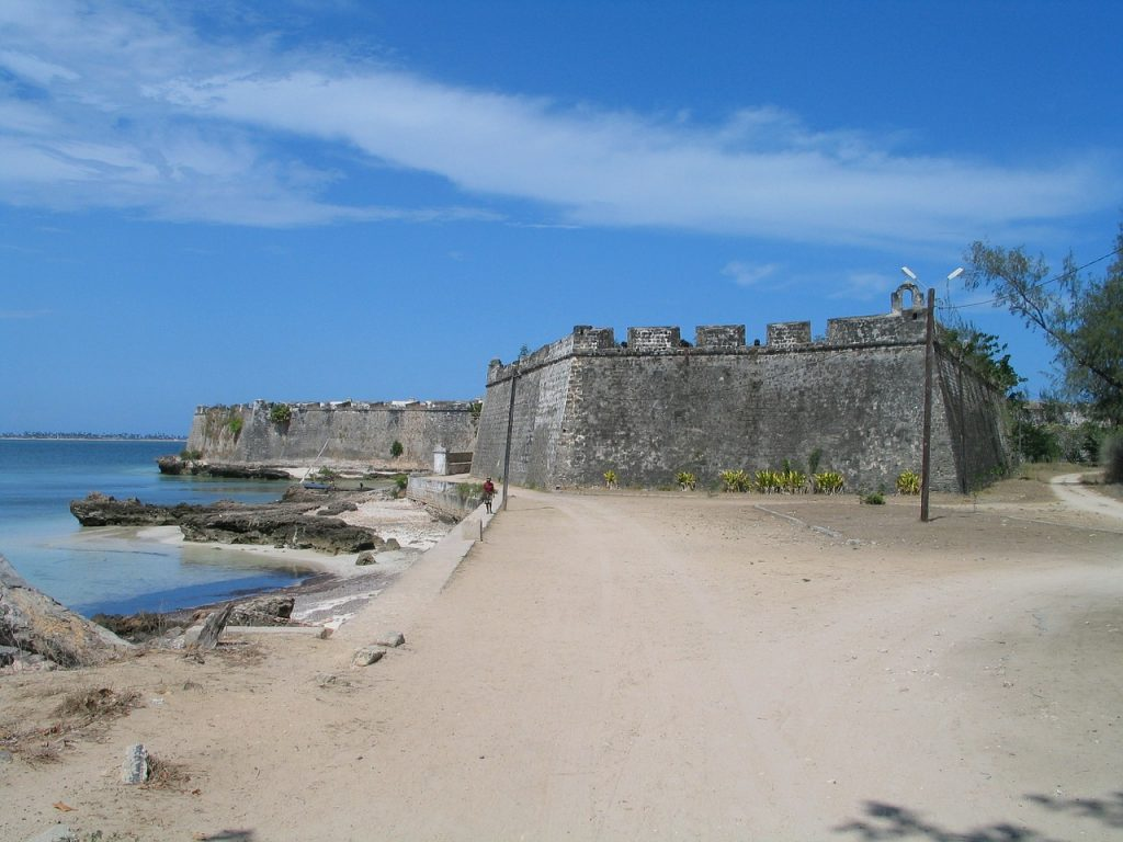 Abandoned Portuguese fort on the beaches of Mozambique