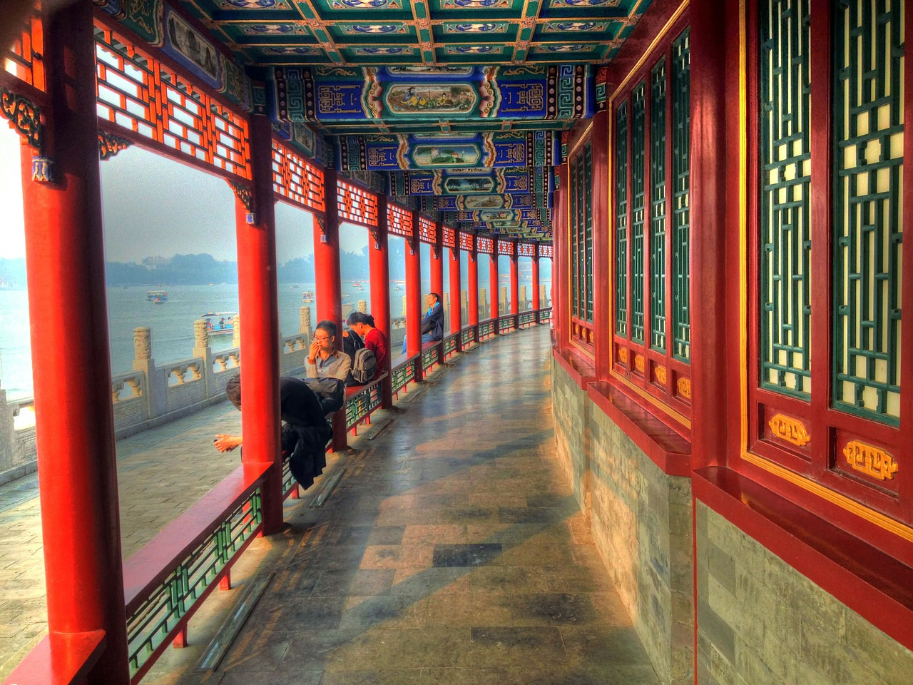 Beijing Highlights: Corridor at the Summer Palace