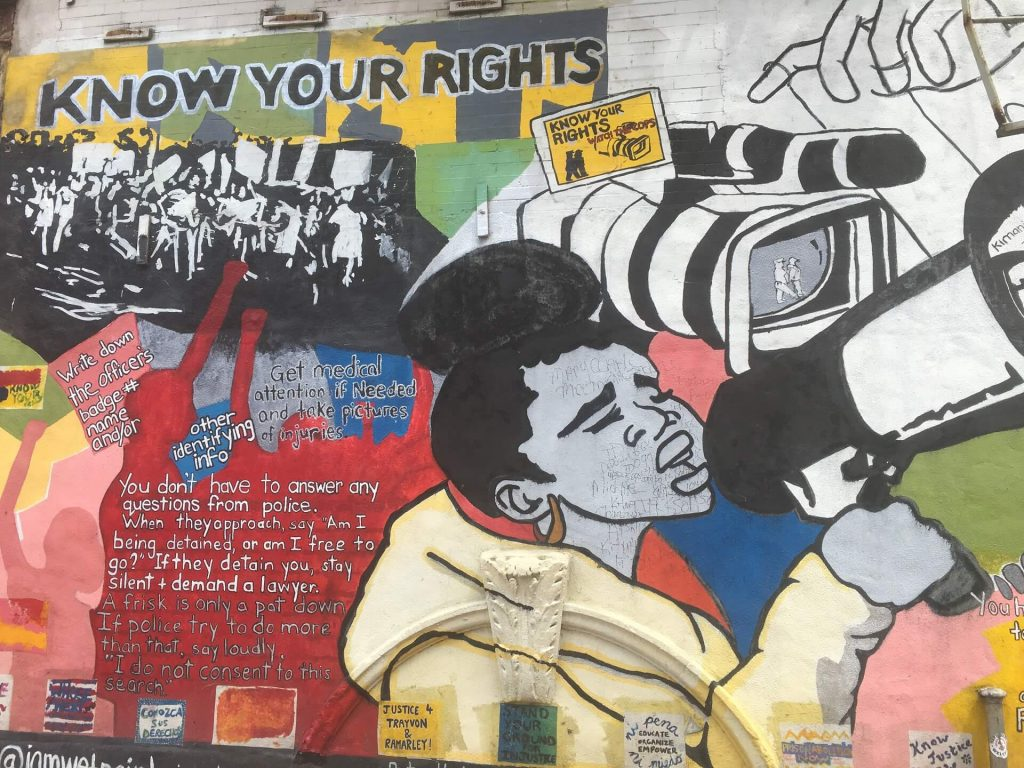 Harlem, New York City, street art graffiti, protests, discrimination