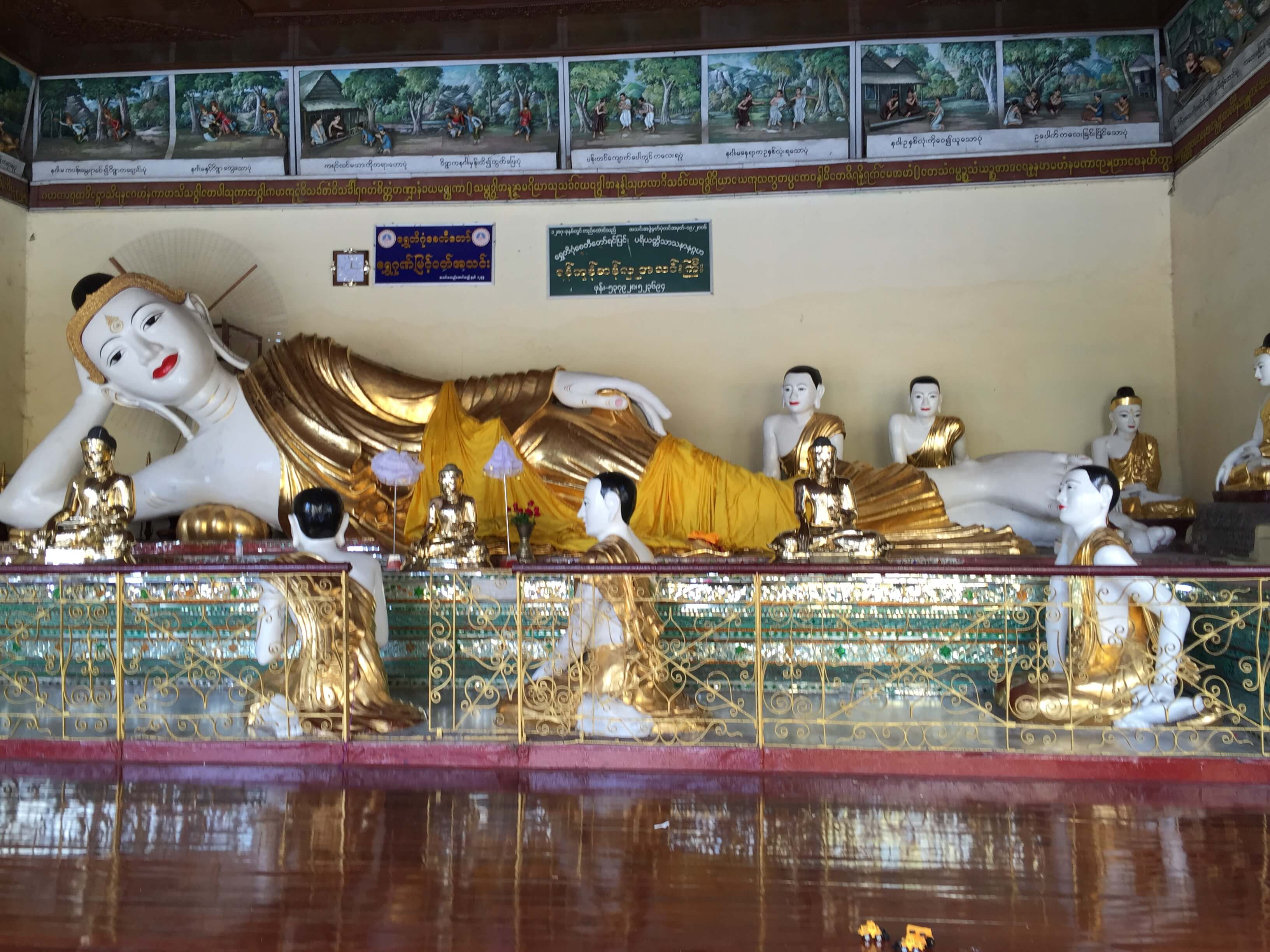 Swedagon Pagoda, Yangon, Myanmar, reclining Buddha