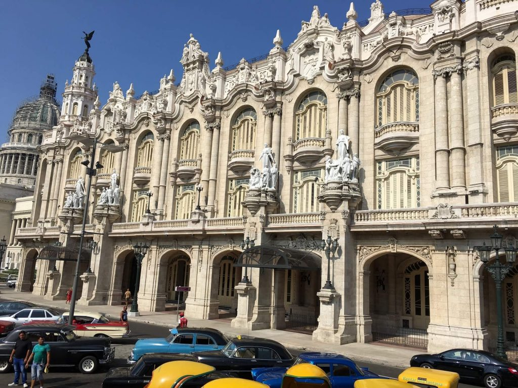 See the National Theater in Havana on your trip to Cuba