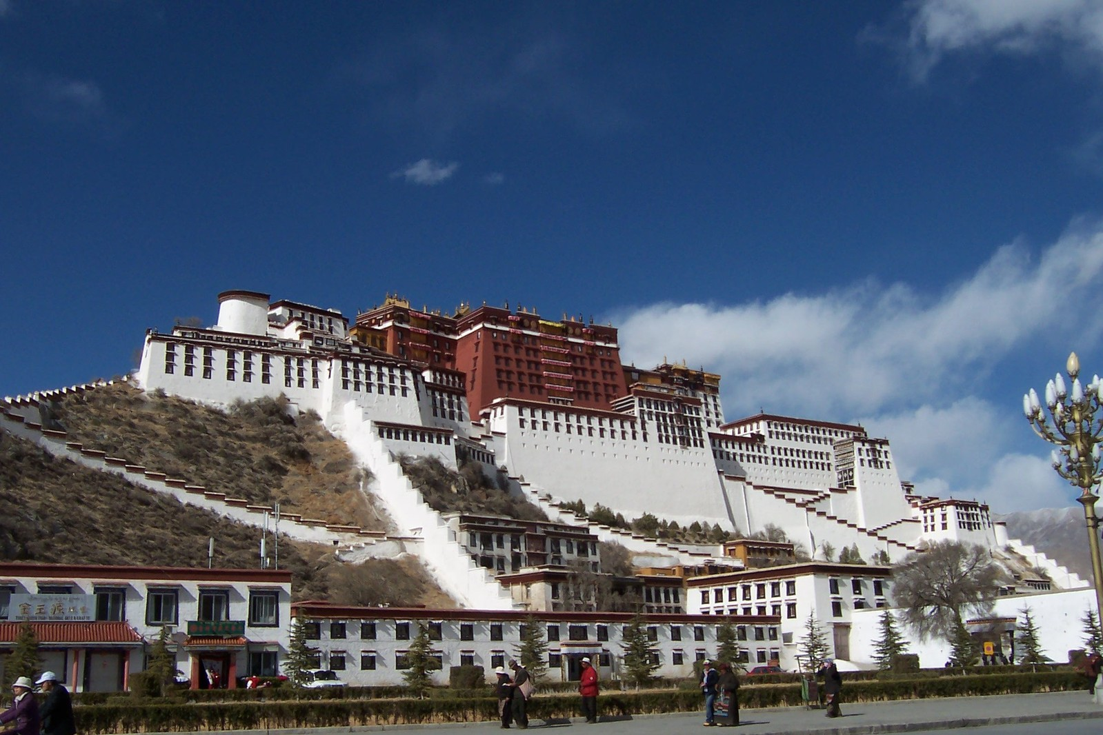 Potala Palace in Lhasa, Tibet seen from a distance