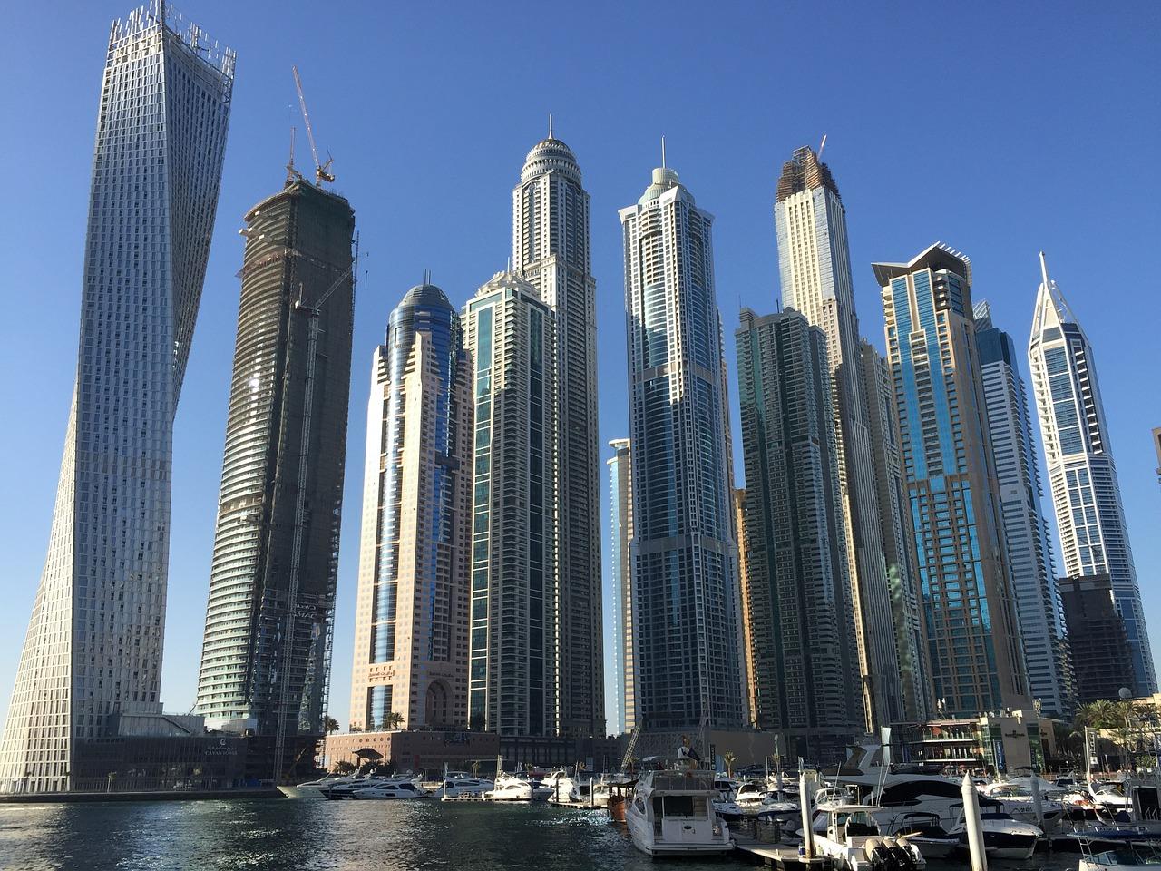 Skyscrapers in Dubai. So many activities in Dubai