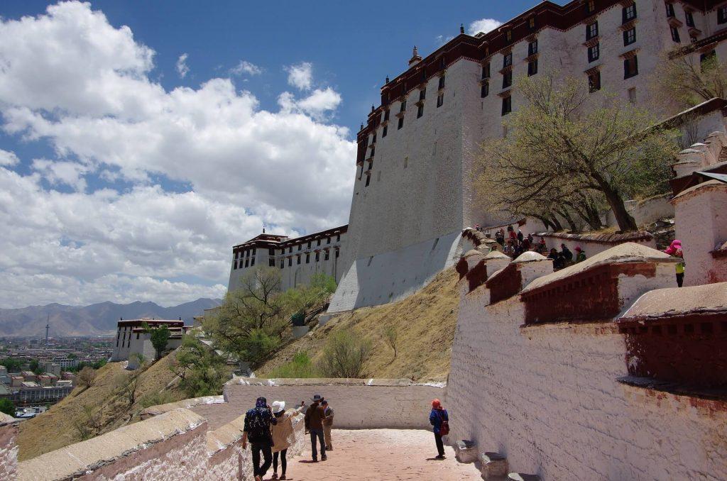 Things to do in Tibet. Climbing Potala Palace in Lhasa, Tibet