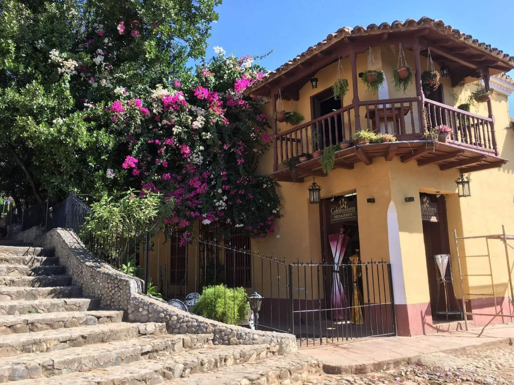 A private sector restaurant in Trinidad, Cuba on your perfect Cuba itinerary