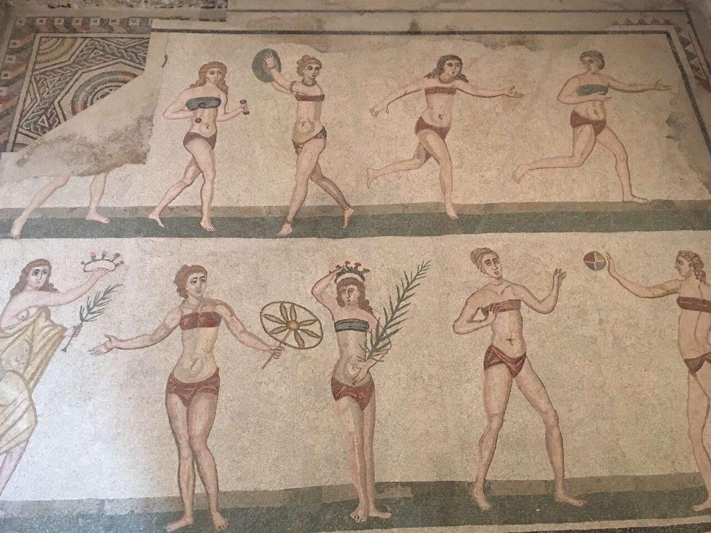 Dancing girls mosaics in Casale