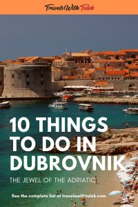 10 Things to do in Dubrovnik