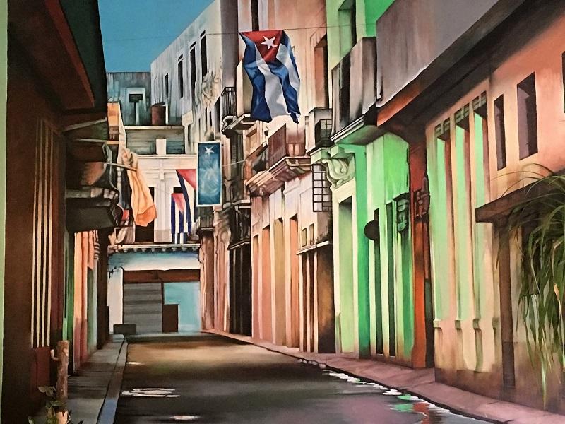 Amor Cubano's murala showcase Cuban artists. Cuban restaurants in New York City
