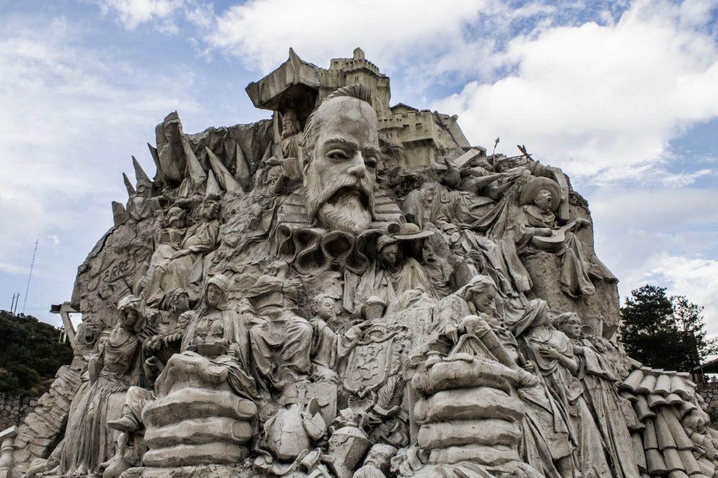 Cervantes monument in Guanajuato