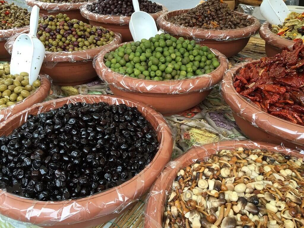 Olives at Ortigia market