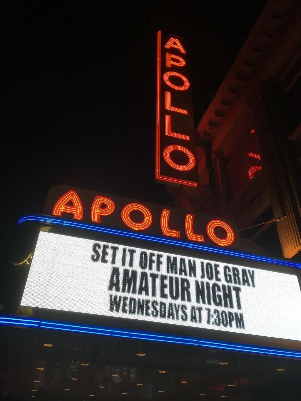 Apollo sign in Harlem