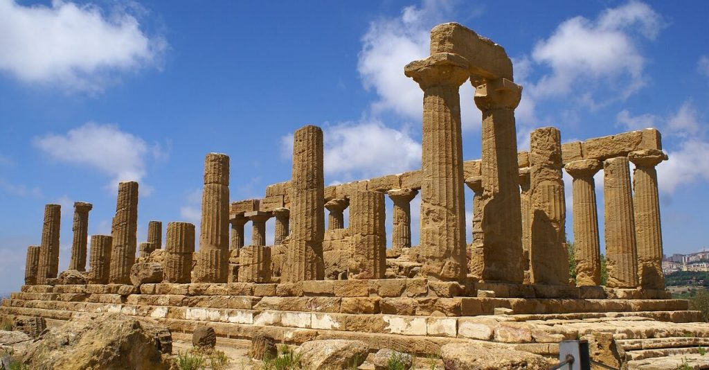 Temple of Hera in Valley of the emples in Agrigento