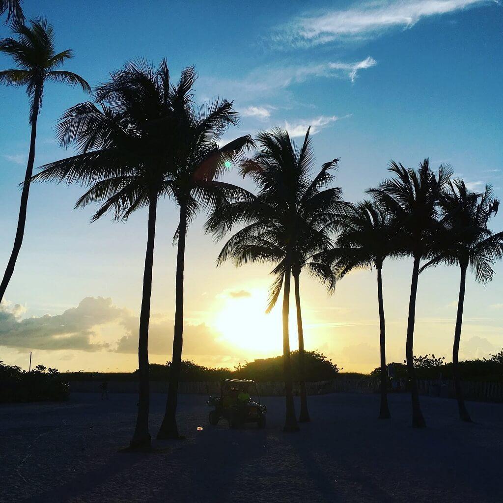 South Beach sunrise on Miami Beach