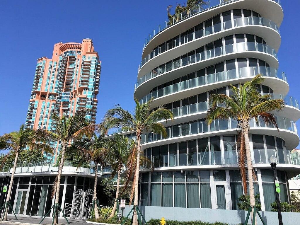 Luxury high rises on South Beach