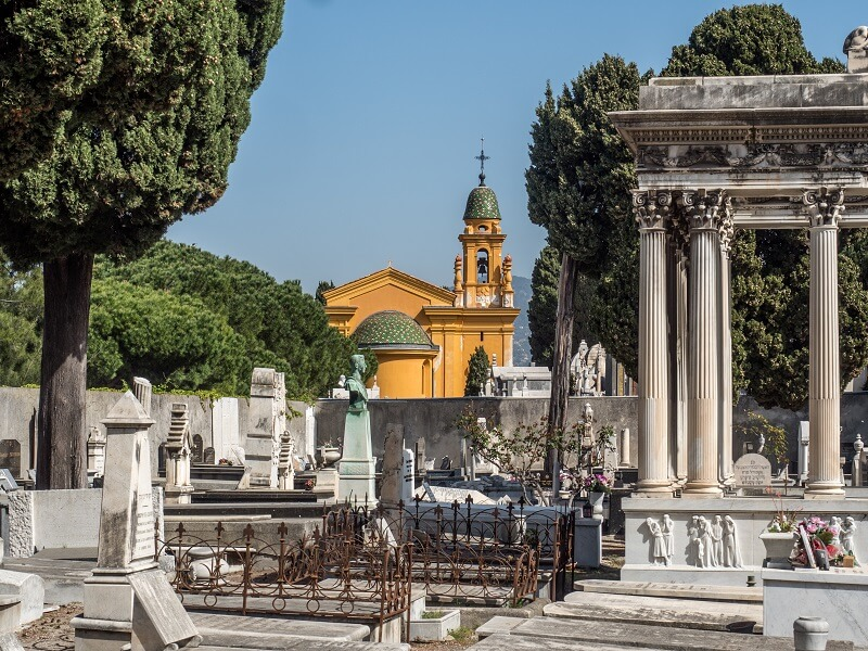Nice cemetery is one of the famous European cemeteries
