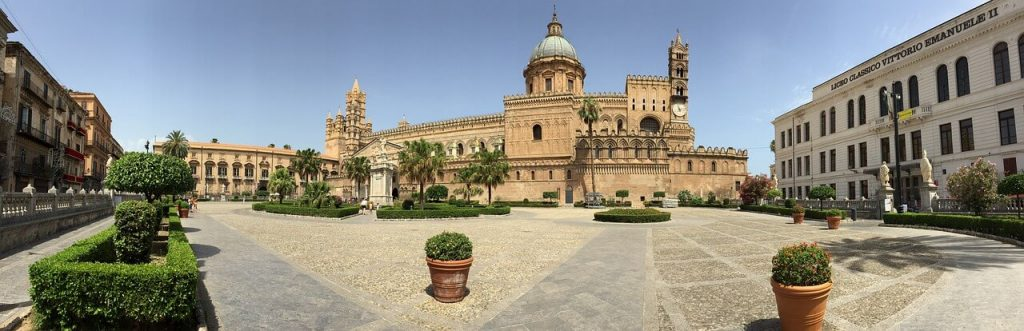 Palermo cathedral on the southern Italy road trip