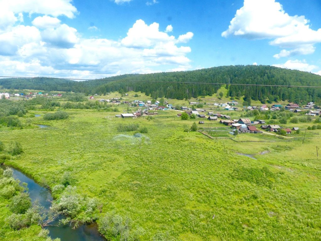 Trans-Siberia landscape. One of the great train vacations.