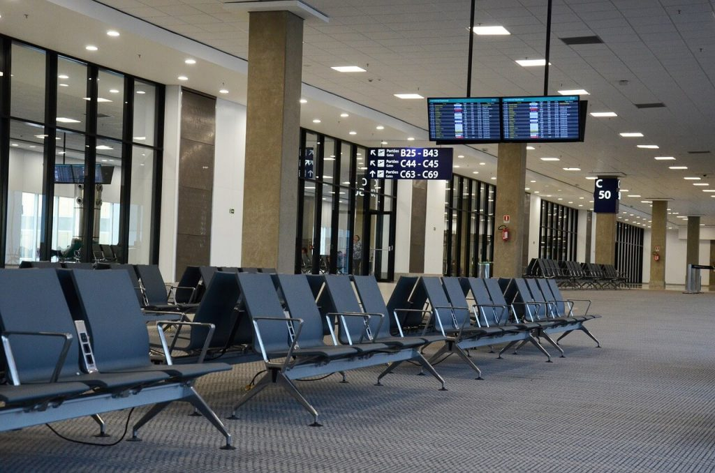 airport gate after you breeze through airport security