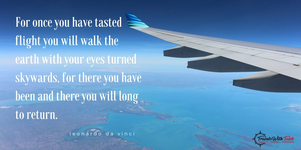 adventure quotes on a photo of a plane wing