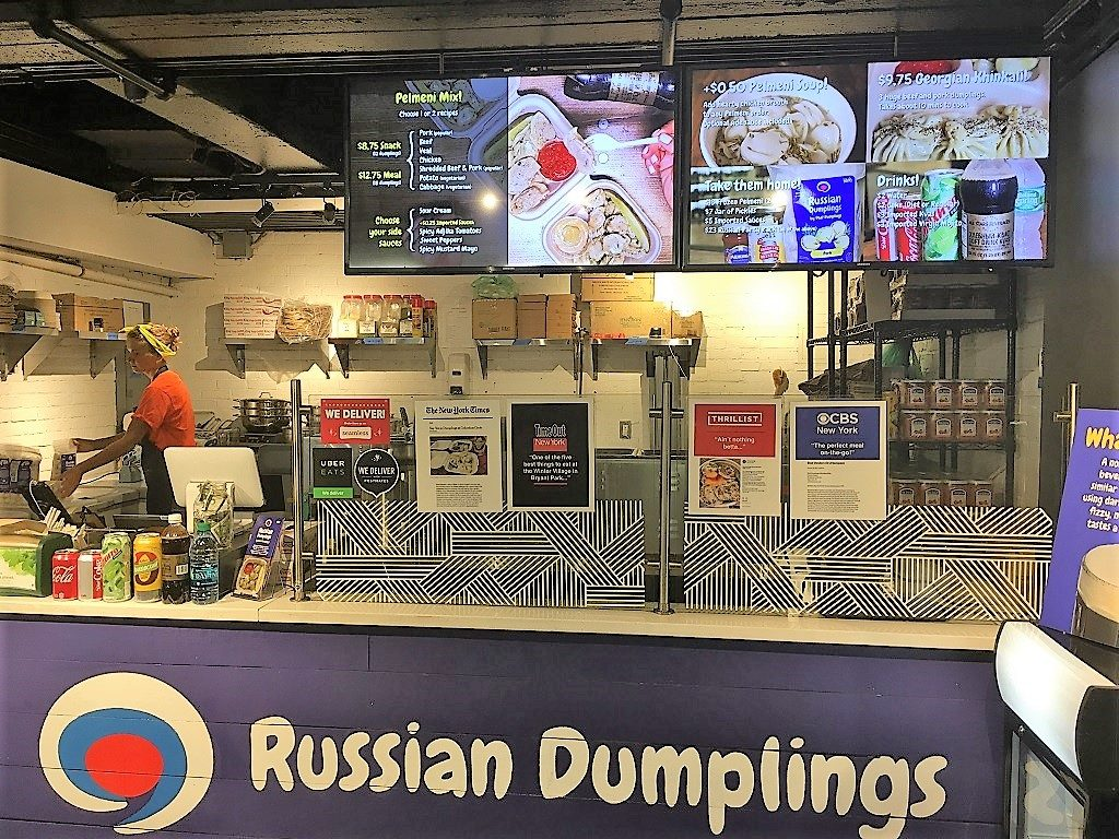 Authentic ethnic restaurants in New York City offer Russian dumplings.