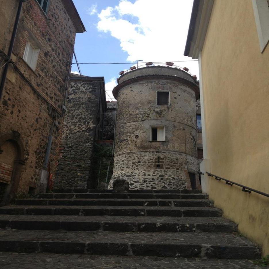 Stone tower in Pofi Italy