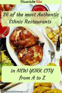 Images of ethnic cuisines in New York City