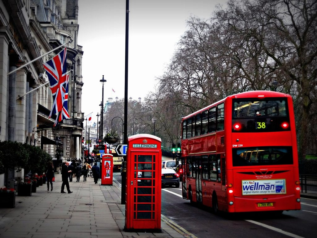 Travel addict loves london bus