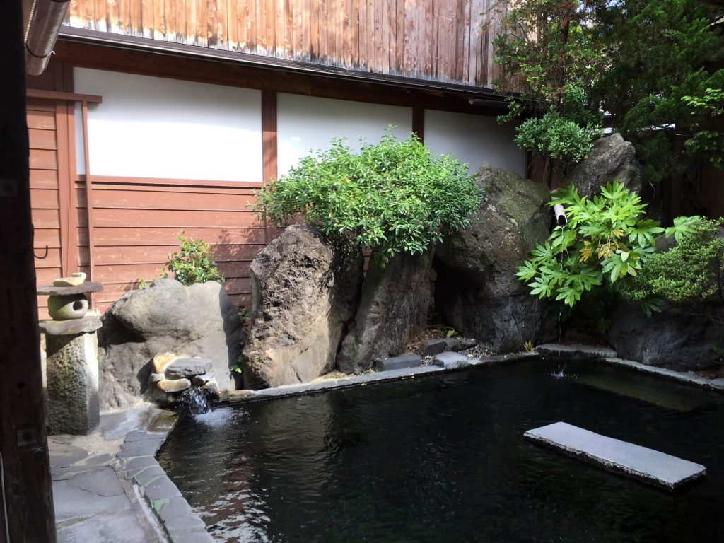 a traditional onsen