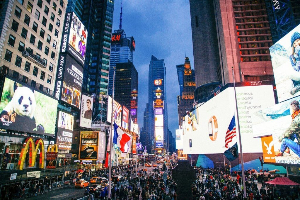 Times Square is the crossroads of the world