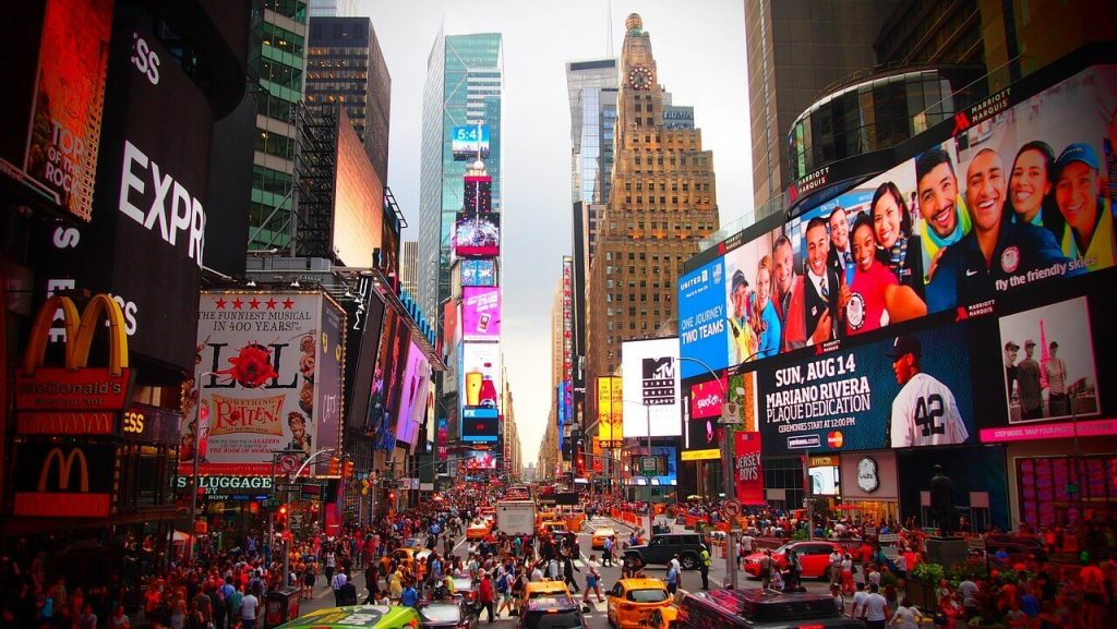 TImes Square Facts: It is home to over 50 billboards