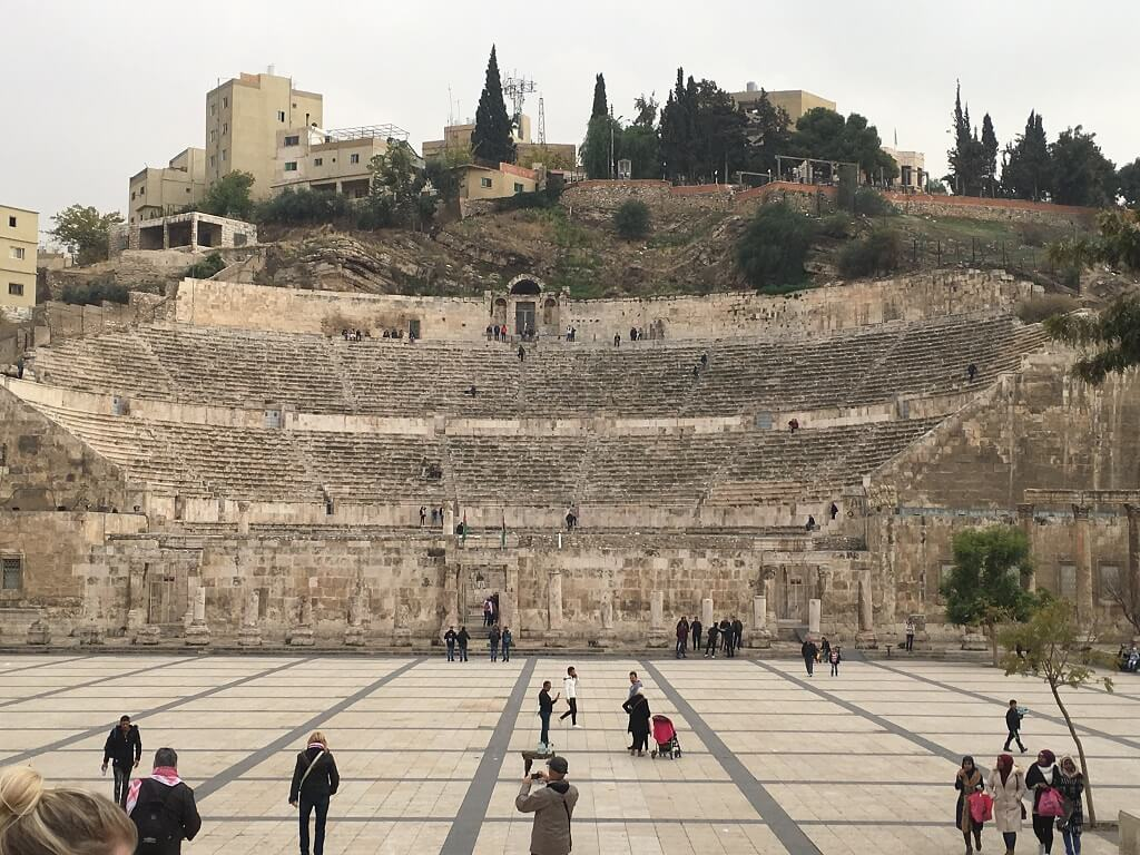 Roman theater in Amman Jordan 2 day itinerary
