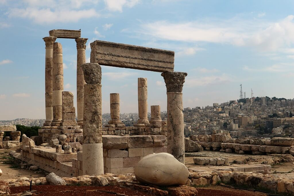 The Citadel in Amman Jordan 2 day itinerary