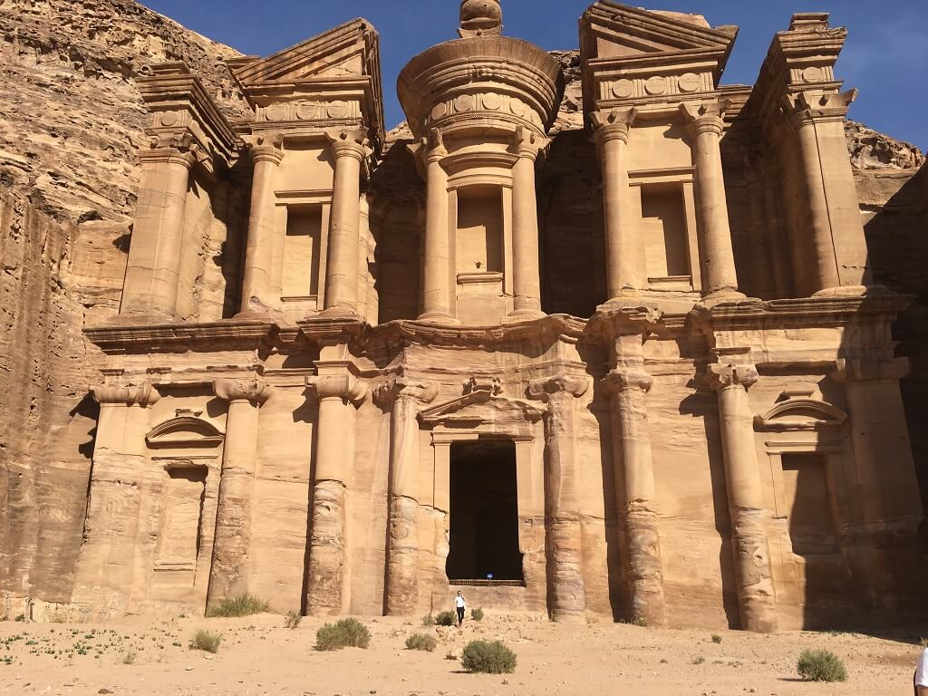 The monastery at Petra, one of the best places to visit in Jordan