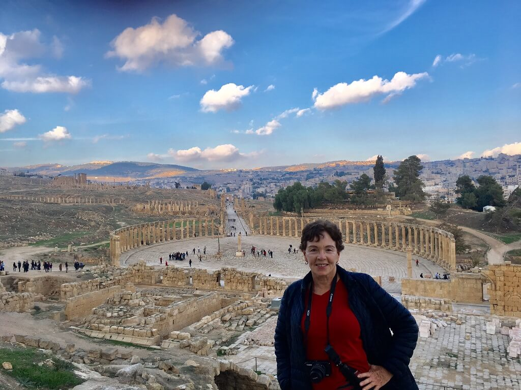 Jerash's oval plaza, one of the best places to visit in Jordan