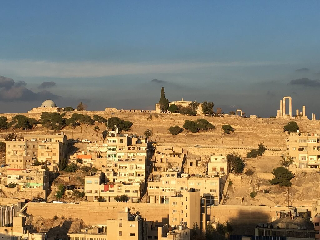 View of Amman, Jordan on a 2 day itinerary.