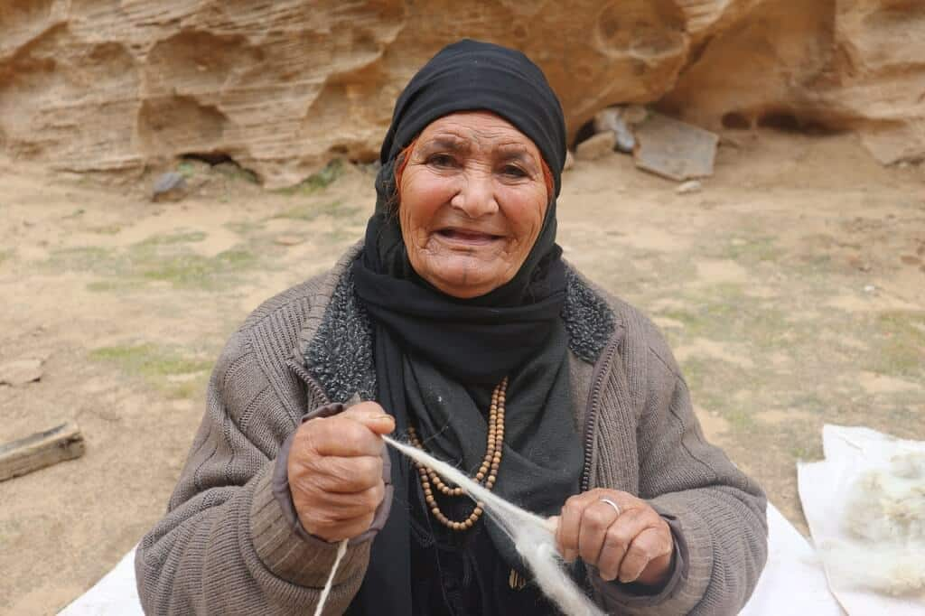 Bedouin woman in Petra