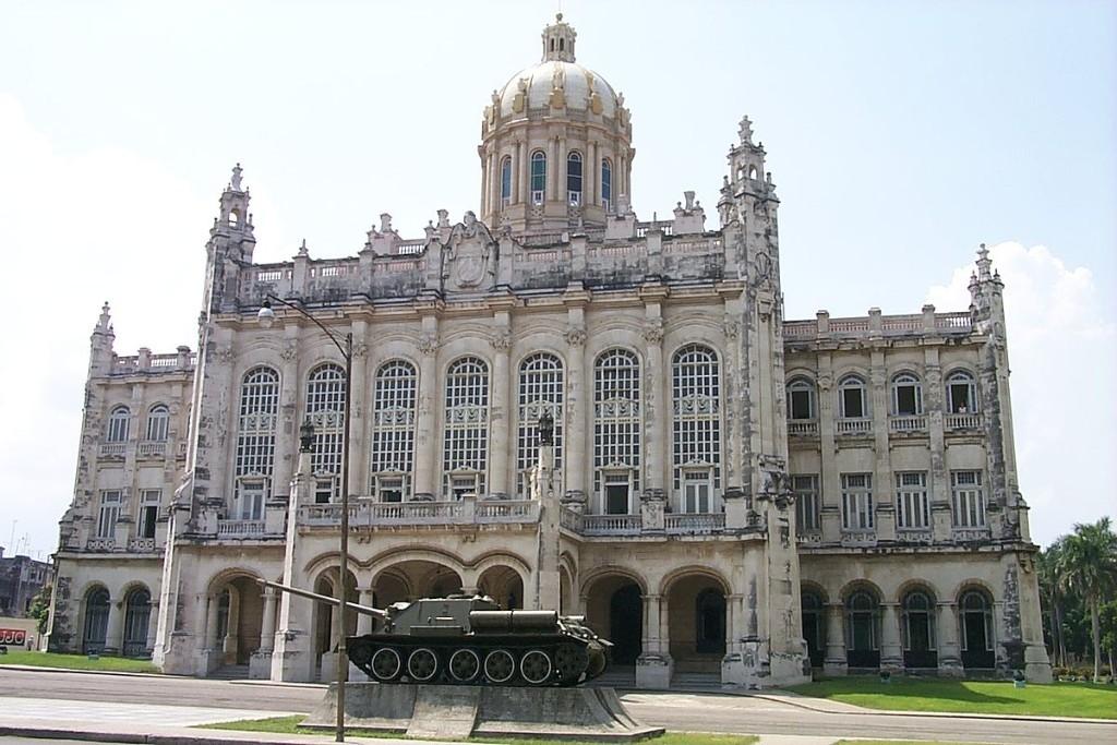 Exterior of the Museum of the Revolution in Havana, Cuba