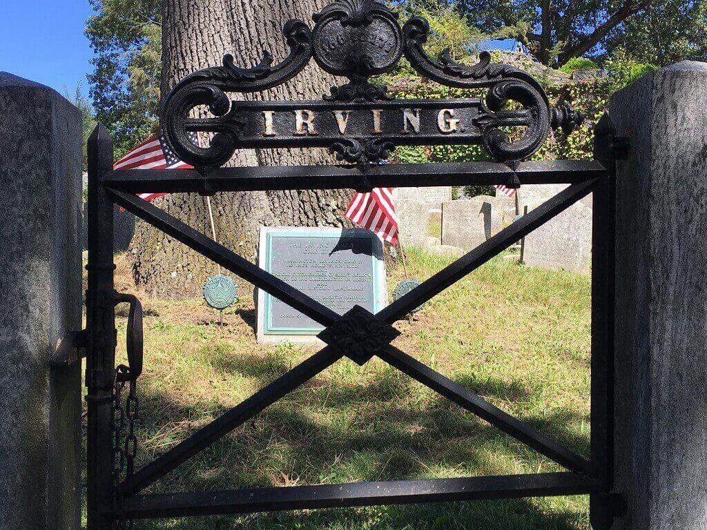 Washington Irving grave at Sleepy Hollow Cemetery
