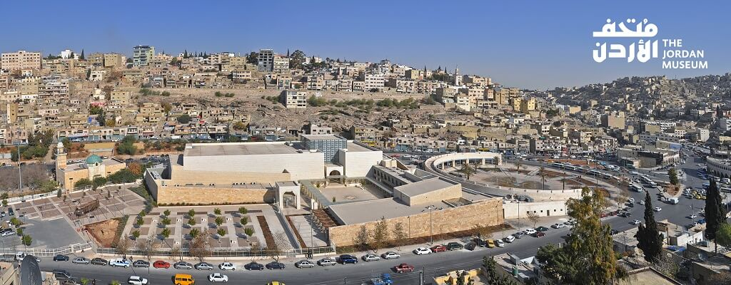 aerial view of the Jordan Museum. A visit here is one of the best things to do in Amman, Jordan
