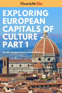 European Capitals of Culture Pin - Florence, Italy