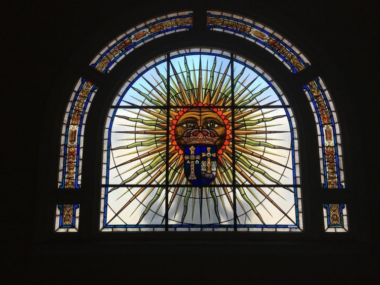 Stained glass at the Havana Museum of Fine Arts