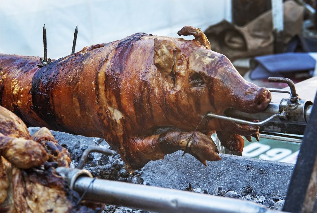 Roast pig is found in many Havana restaurants