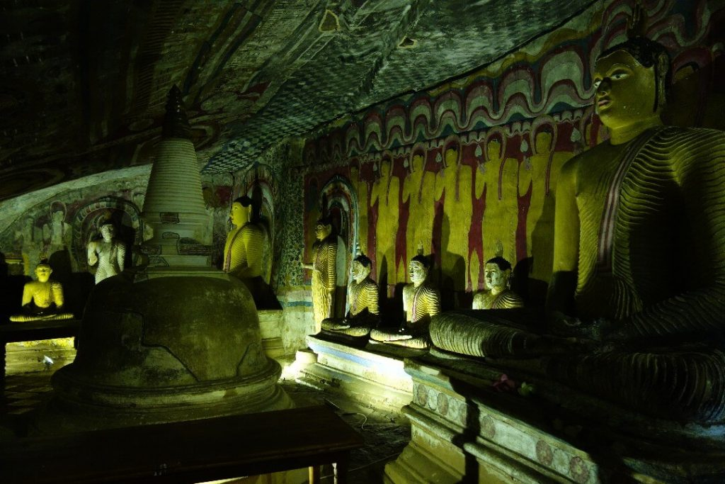 Dambulla temple, one of the best places to visit in Sri Lanka