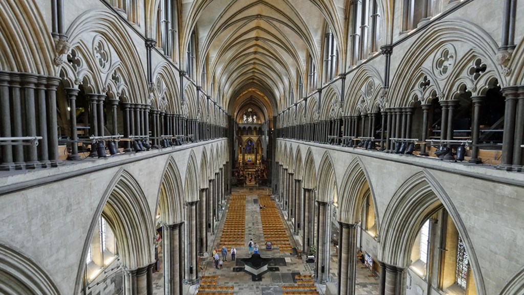 Salisbury Cathedral from spire tour