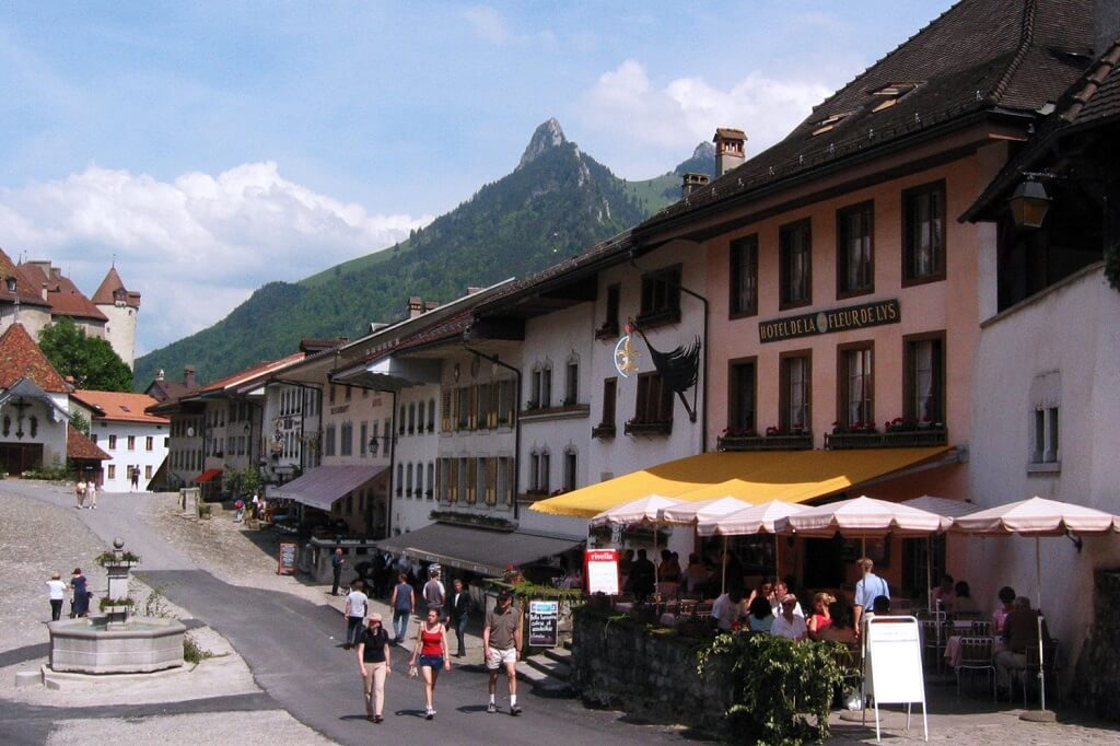 gruyere-town in Switzerland