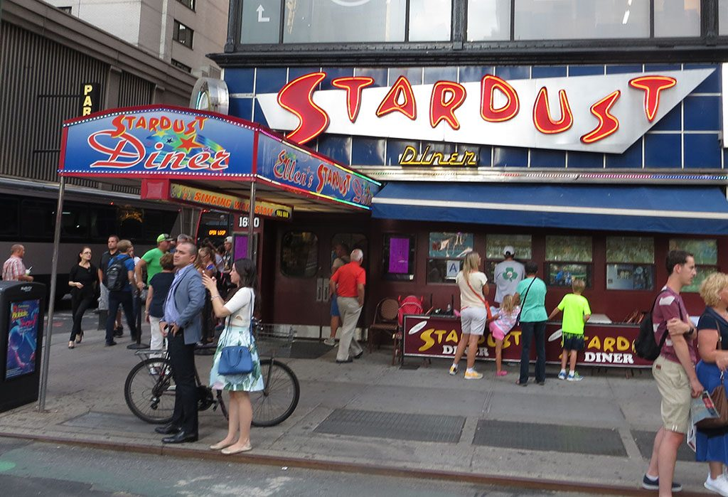 Stardust Diner storefront. One of the famous places to eat without breaking the bank