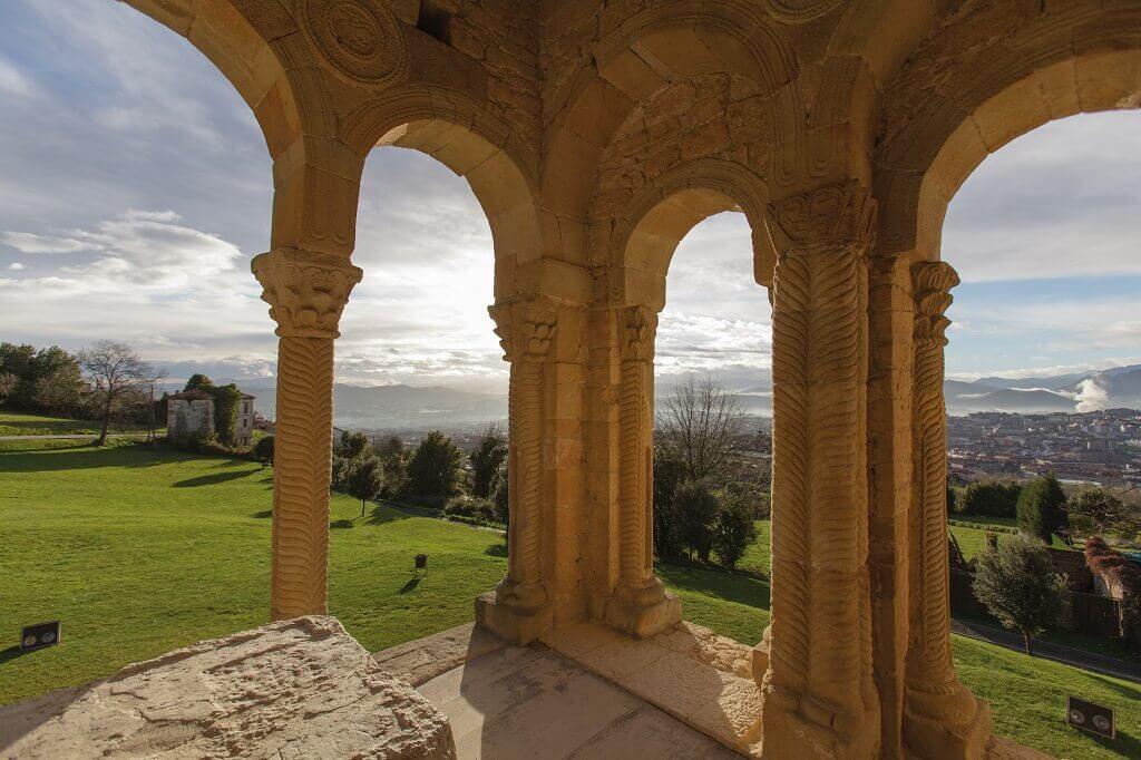 9th Century church tower view
