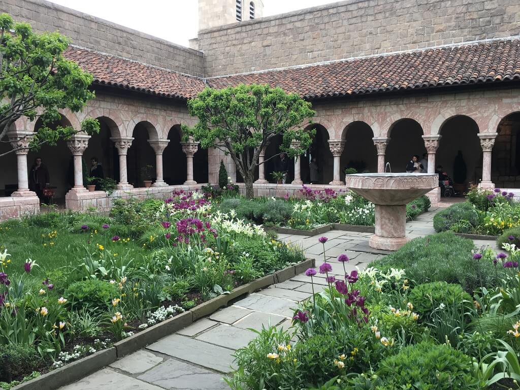 The Cloisters courtyard